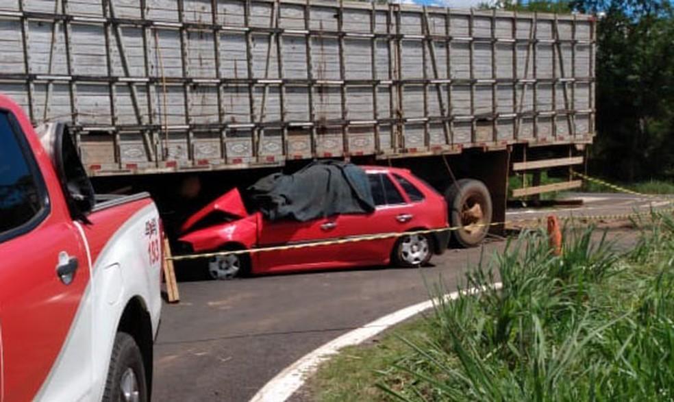 Acidente ocorreu nesta segunda-feira (13). Não há informações sobre feridos. — Foto: Arquivo Pessoal
