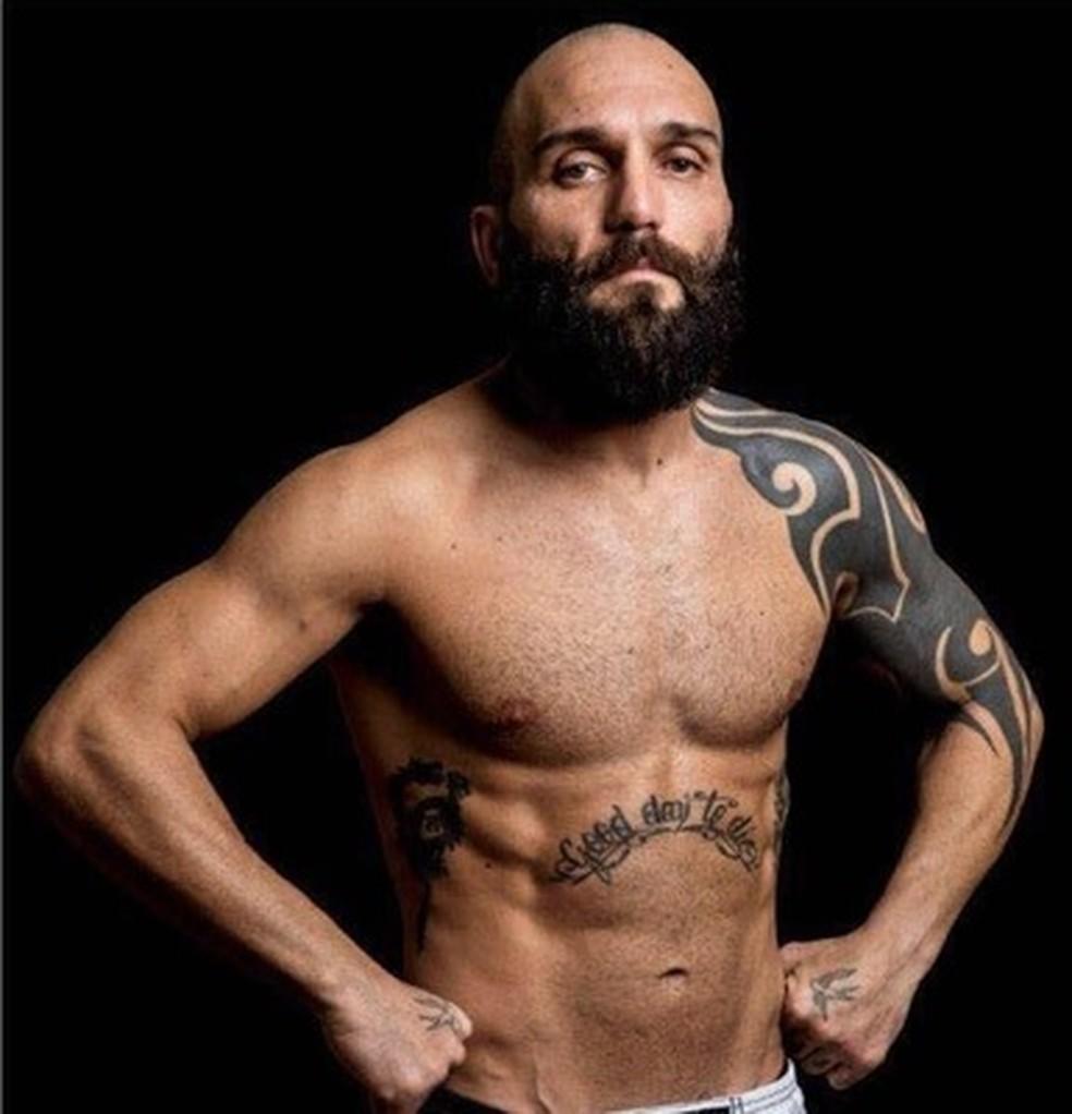 Cristian Binda tem um cartel profissional no MMA de 11 vitórias e 10 derrotas — Foto: Reprodução / Instagram