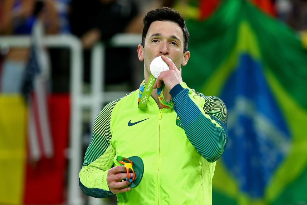 Diego Hypolito foi medalha de prata nos Jogos Olímpicos do Rio de Janeiro. — Foto: Alex Livesey, Getty Images