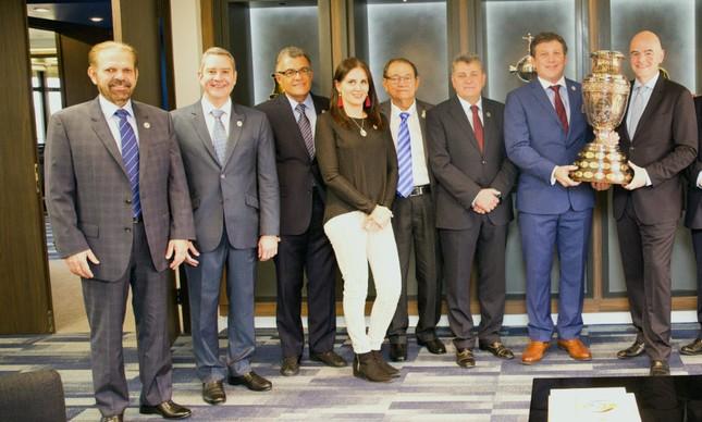 Dirigentes da CBF na Conmebol
