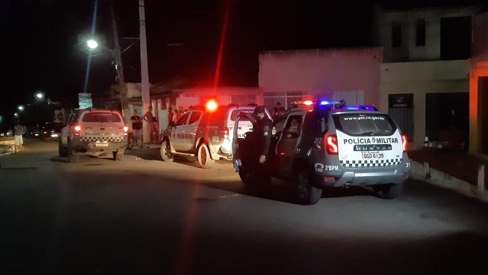 Crime aconteceu em São José de Mipibu, na região metropolitana de Natal. — Foto: Sérgio Henrique Santos/Inter TV Cabugi