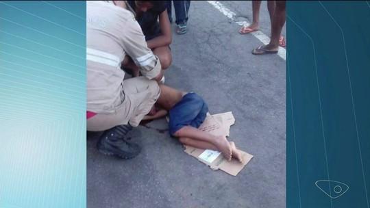 Criança de nove anos é atropelada por moto em Cachoeiro, ES