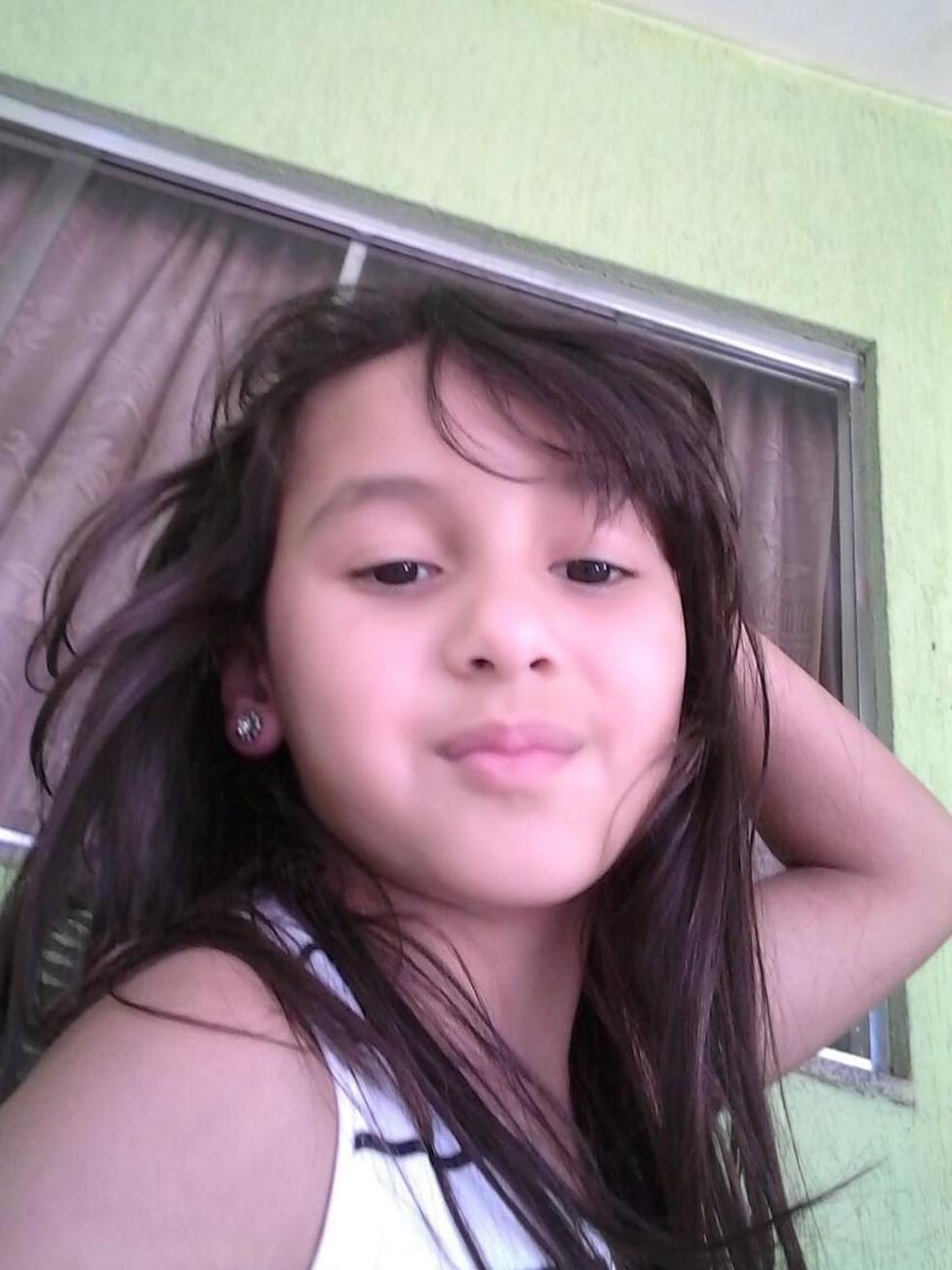 Foto da menina foi colocada no Sistema de Pessoas Desaparecidas da Secretaria da Segurança Pública (Foto: Divulgação/Sesp)