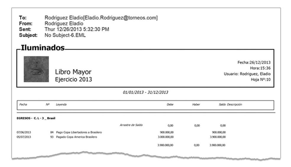 Planilha da Torneos: US$ 900 mil pela Libertadores e US$ 3 milhões pela Copa América pagos a
