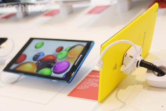 Novo Tab S8 traz chip quad-core e Android por 199 dólares  (Foto: Fabrício Vitorino/TechTudo)