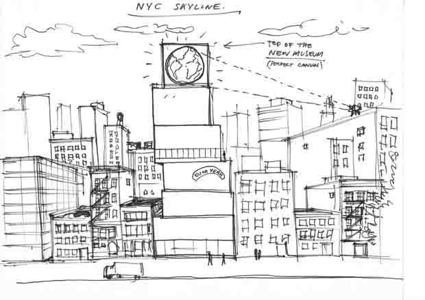 Instalação de arte em NY transmitirá 'live' da Terra diretamente do espaço (Foto: Divulgação)