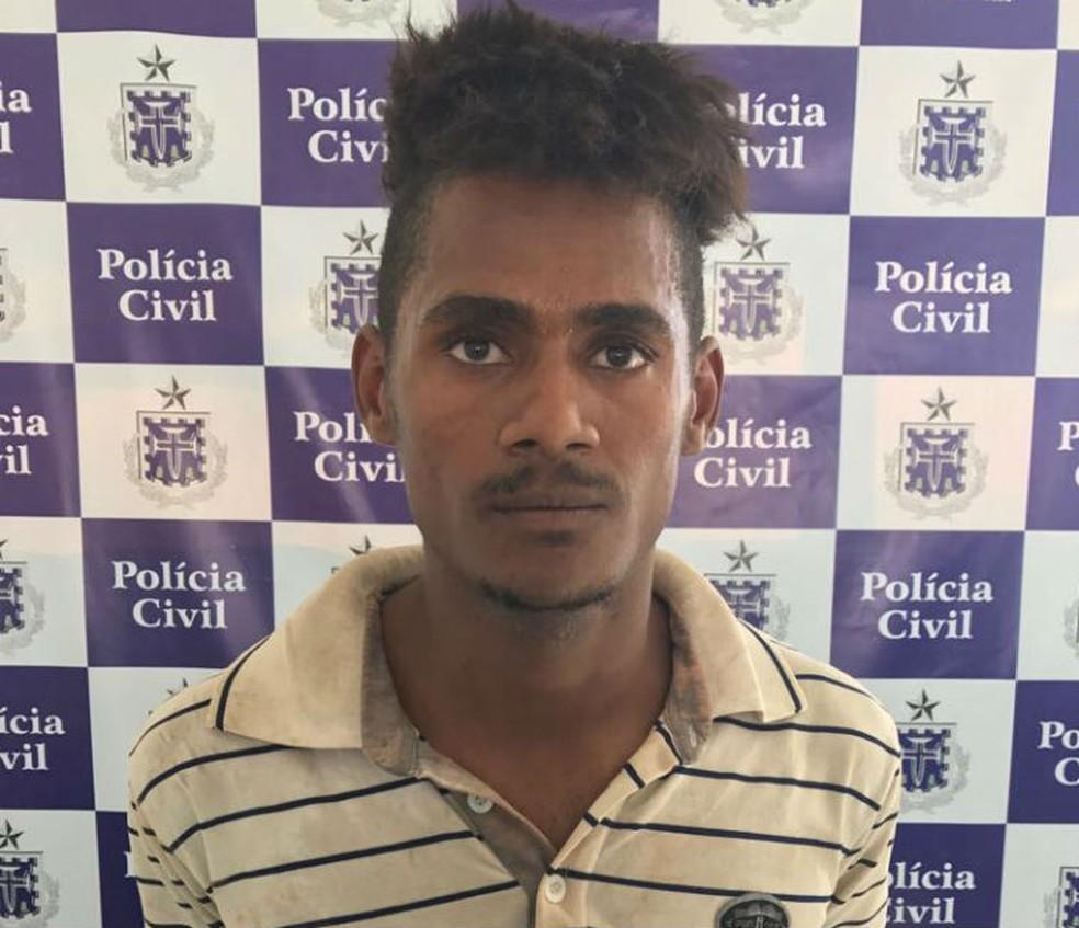 Jovem de 21 foi preso suspeito de estuprar uma amiga na BA (Foto: Divulgação/Polícia Civil)