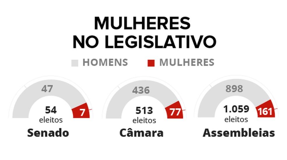 Selo mulheres no Legislativo — Foto: Arte/G1