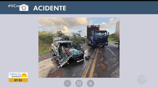 Homem morre após carro bater de frente com carreta na altura de Mata de São João