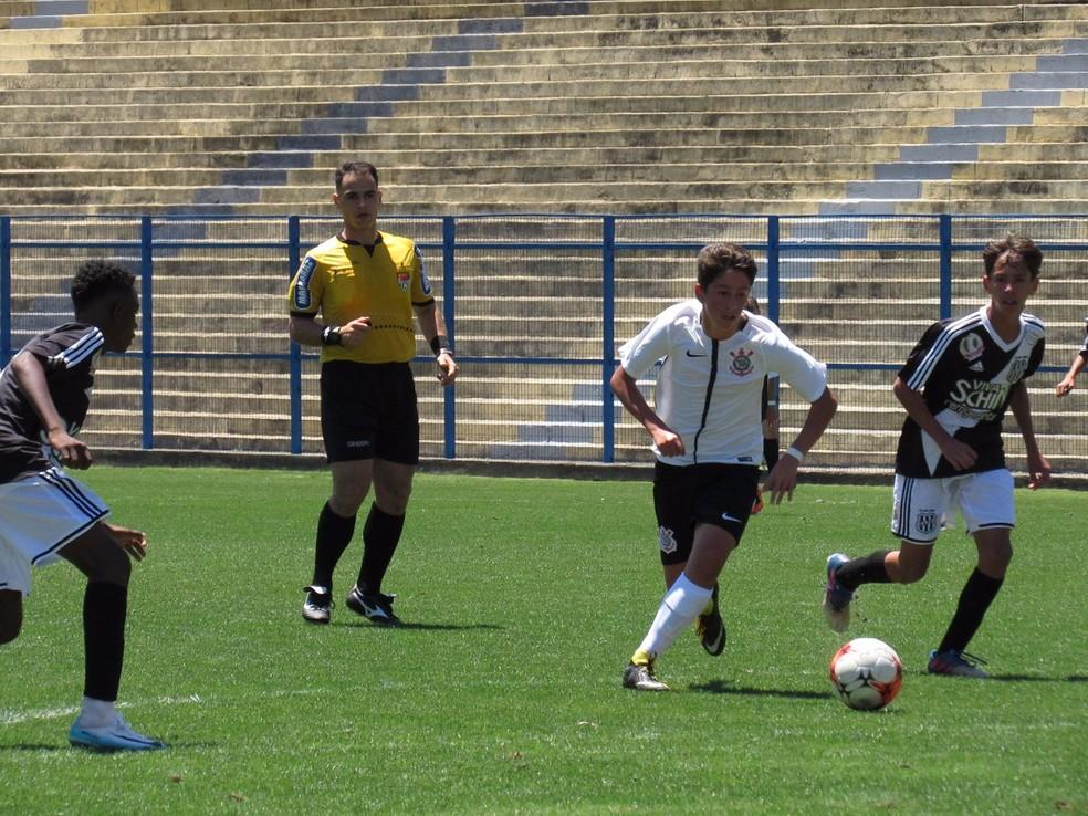 Filho de Edu Gaspar, Luigi joga no sub-13 do Corinthians (Foto: Rodrigo Gazzanel/Ag. Corinthians)
