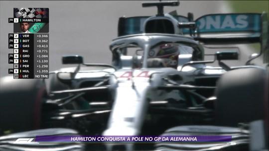 Lewis Hamilton conquista a pole no GP da Alemanha de Fórmula 1