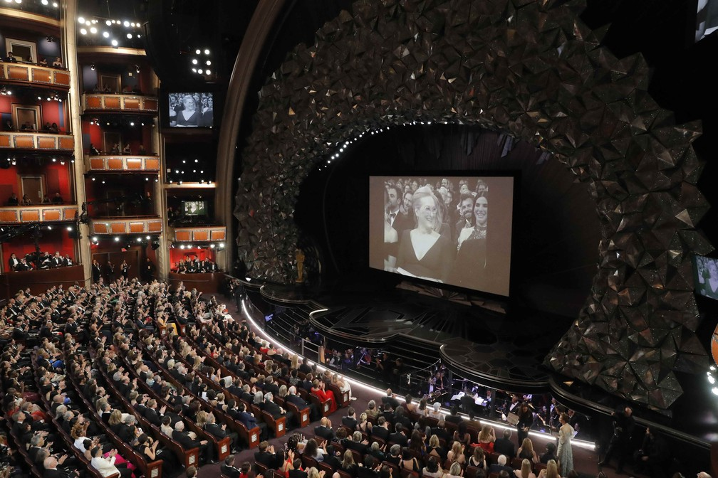 Interior do Dolby Theatre durante cerimônia do Oscar 2018 (Foto: Lucas Jackson/Reuters)