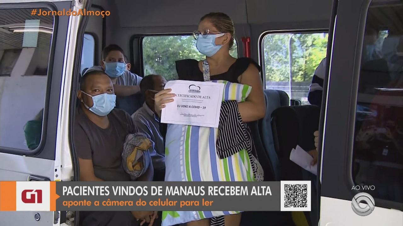 Pacientes com Covid-19 vindos de Manaus retornam para o Amazonas