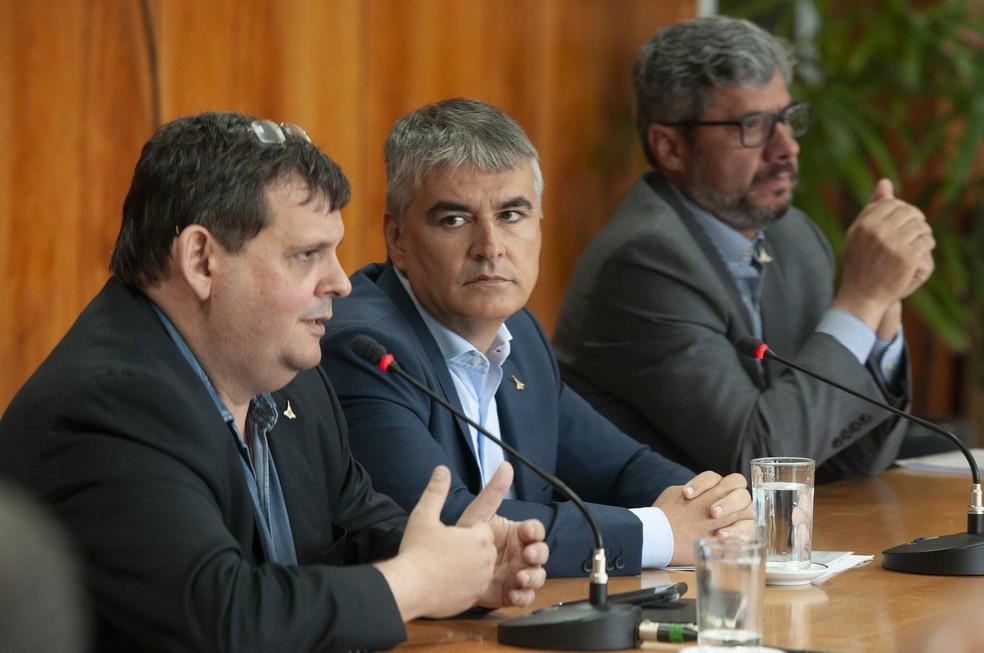 Os secretários de Planejamento, Casa Civil e Fazenda do DF na gestão Rollemberg — Foto: Pedro Ventura/Agência Brasília