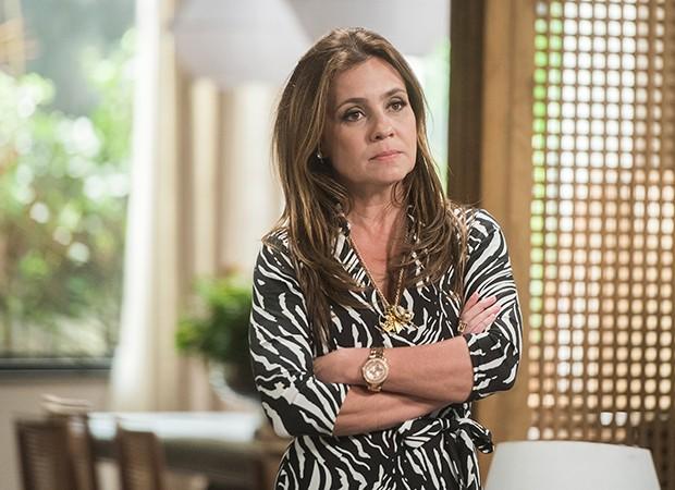 Laureta (Adriana Esteves) será presa por tráfico de drogas (Foto:  Globo/Raquel Cunha)