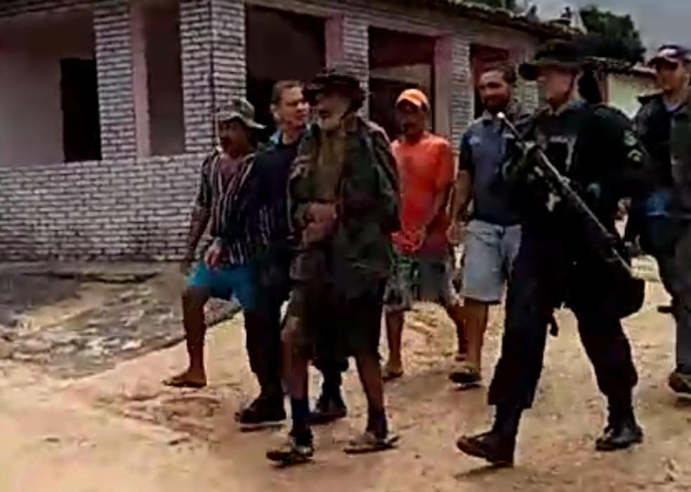Zé do Valério preso por policiais militares cearenses no Piauí — Foto: Reprodução