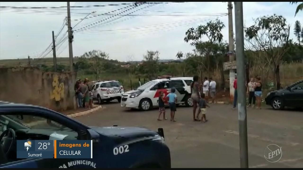 Guarda Municipal e PM negociam com famílias que tentam ocupar terreno em Campinas