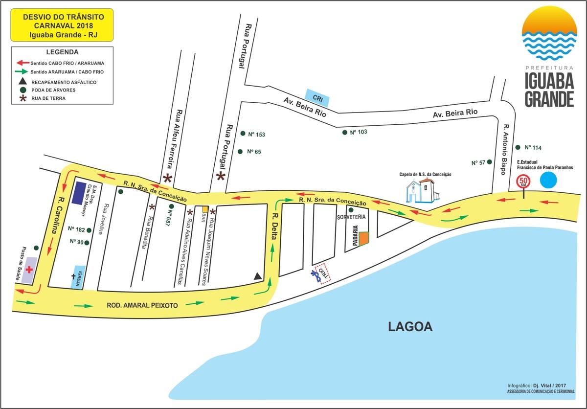 Rodovia Amaral Peixoto terá interdições para o Carnaval em Iguaba Grande, no RJ