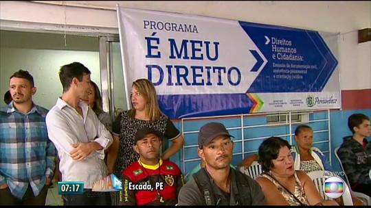 Escada e Ipojuca recebem mutirão com emissão de documentos para atingidos pelas enchentes de maio