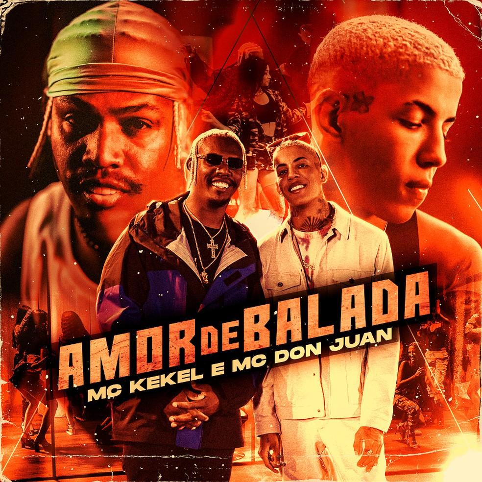 Capa do single 'Amor de balada', de MC Kekel e MC Don Juan — Foto: Divulgação