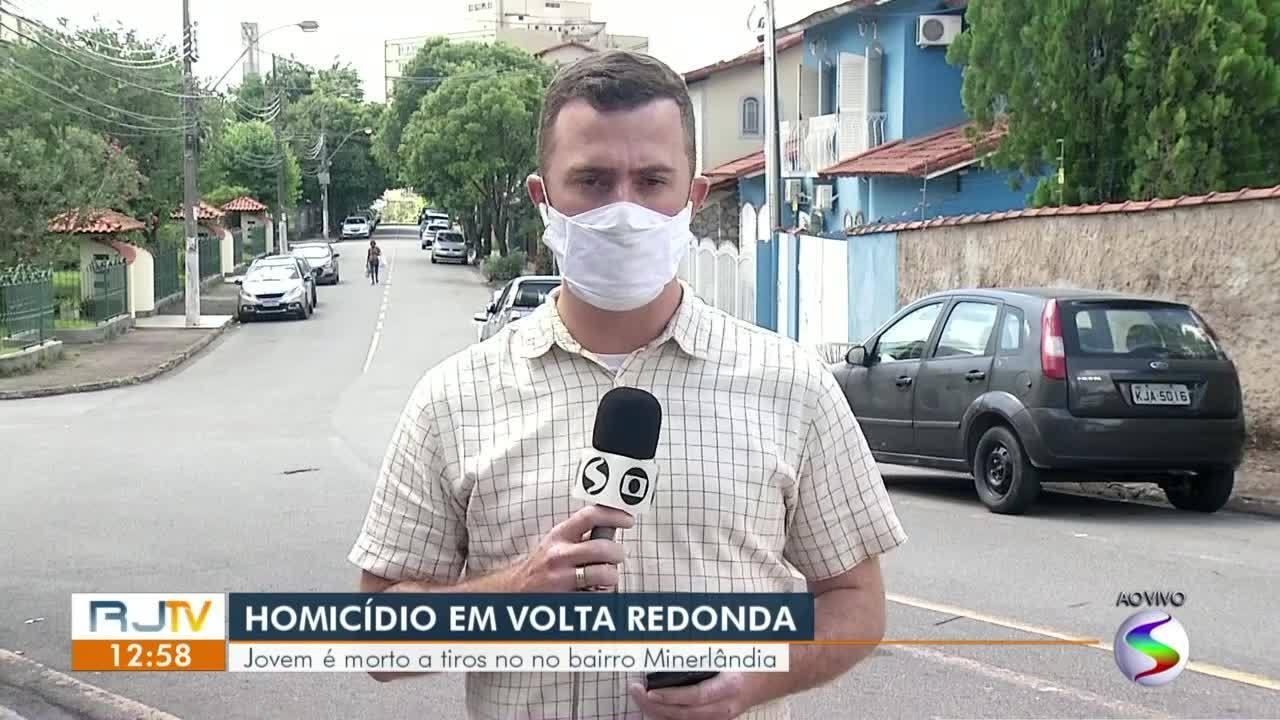 Jovem é morto a tiros em Volta Redonda