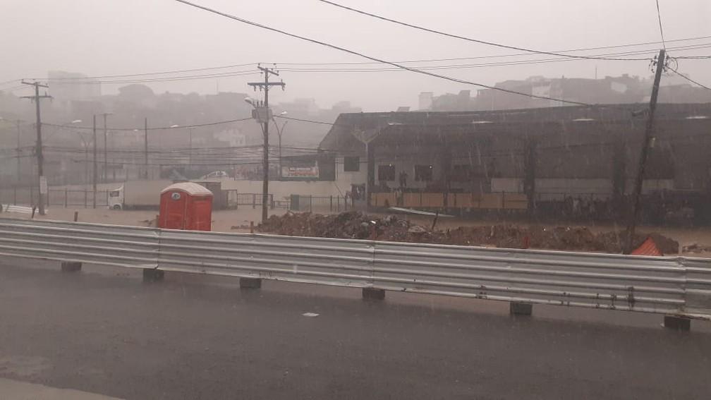 Chuva na Sete Portas, em Salvador — Foto: Pastor Clécio Amorim/Arquivo pessoal
