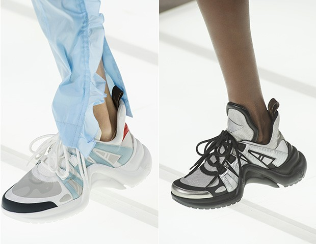 Os modelos na passarela da Louis Vuitton (Foto: Instagram)