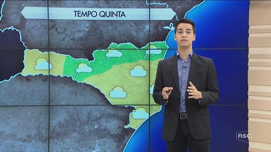Ar seco traz de volta predomínio do sol nesta quinta-feira em Santa Catarina