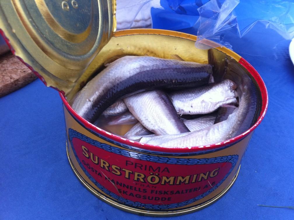 Surströmming é arenque fermentado em lata — Foto: Flickr/Stefan Leijon/CC 2.0