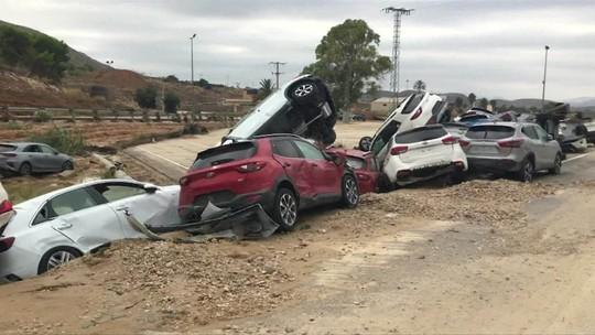 Fortes chuvas causam seis mortes e muitos estragos no sul da Espanha
