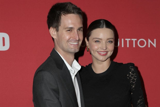 Miranda Kerr e Evan Spiegel  (Foto: BackGrid)