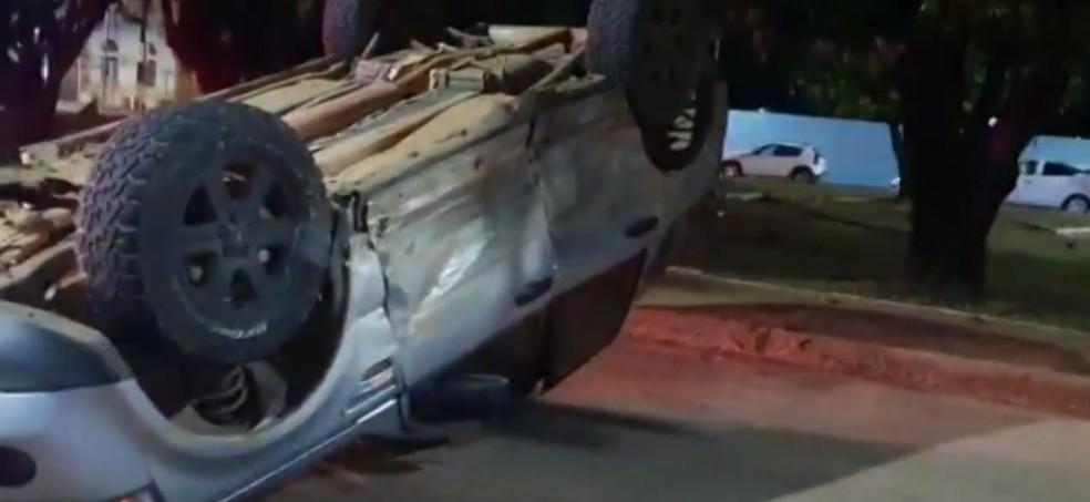 """Foragido da justiça se envolve em acidente de trânsito e """"foge"""" hospital em Rondônia — Foto: WhatsApp / reprodução"""