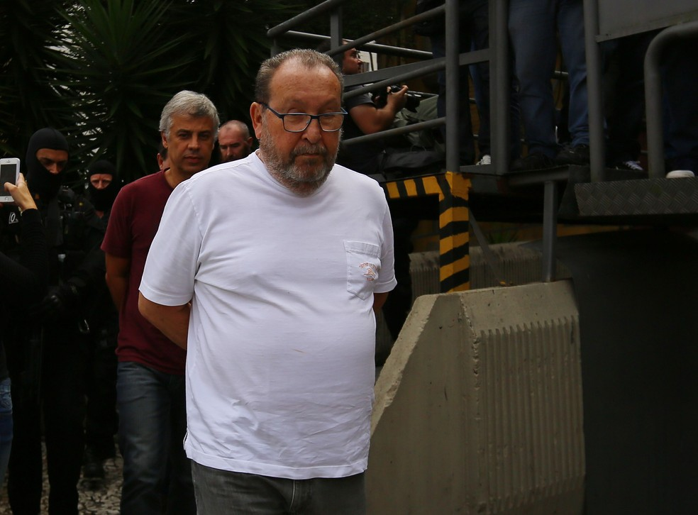 O engenheiro Zwi Skornicki foi preso na 23ª fase da Operação Lava Jato (Foto: Giuliano Gomes/ Agência PR PRESS)