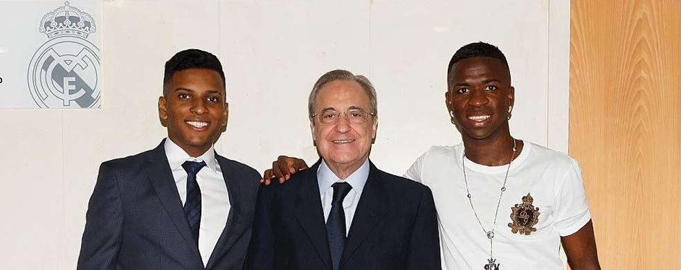 Rodrygo e Vinicius Junior são jovens astros do Real Madrid — Foto: Divulgação/Real Madrid
