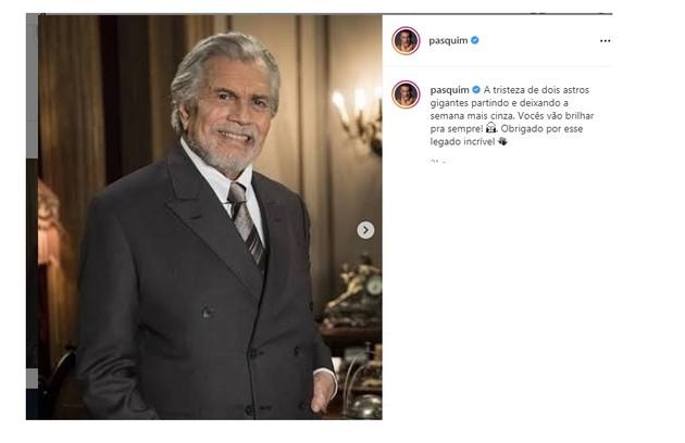 Marcos Pasquim também prestigiou o amigo com a última homenagem (Foto: Reprodução)