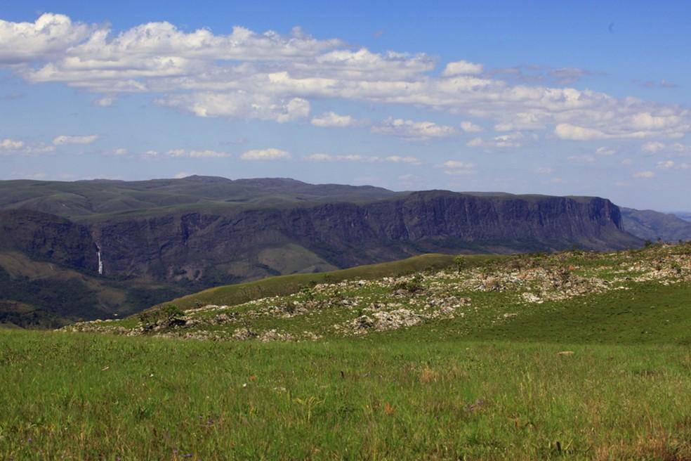 Vista da Serra da Canastra em São Roque de Minas — Foto: Acervo Parque Nacional da Serra da Canastra/Icmbio
