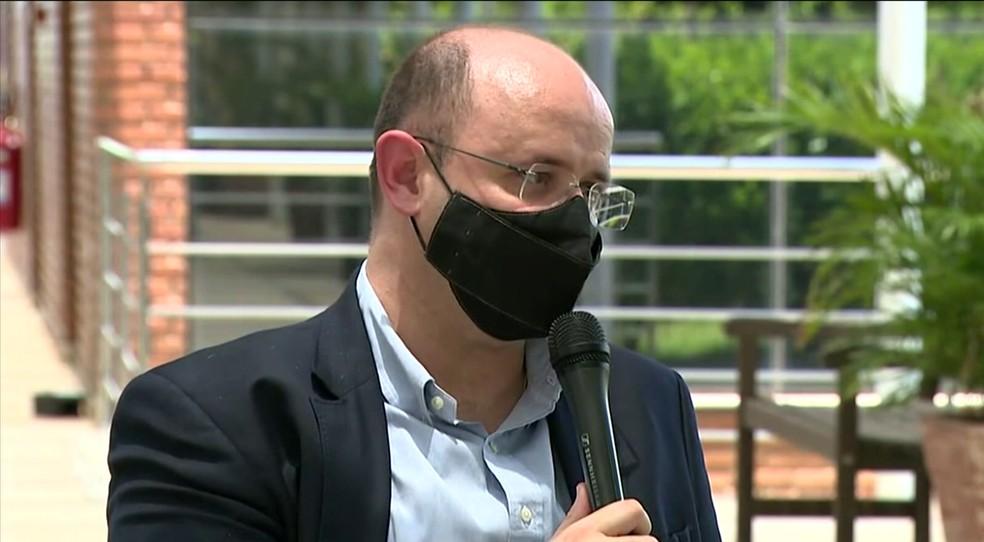 Rossieli Soares, secretário estadual de Educação, em entrevista à EPTV — Foto: Reprodução/EPTV