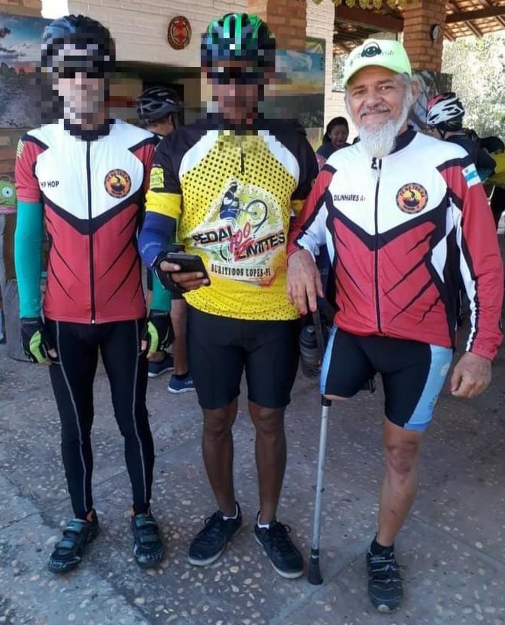 Ciclista morto em Parnaíba — Foto: Reprodução