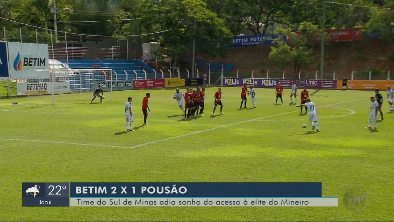 Pouso Alegre perde para o Betim e adia sonho do acesso para Módulo I do Mineiro