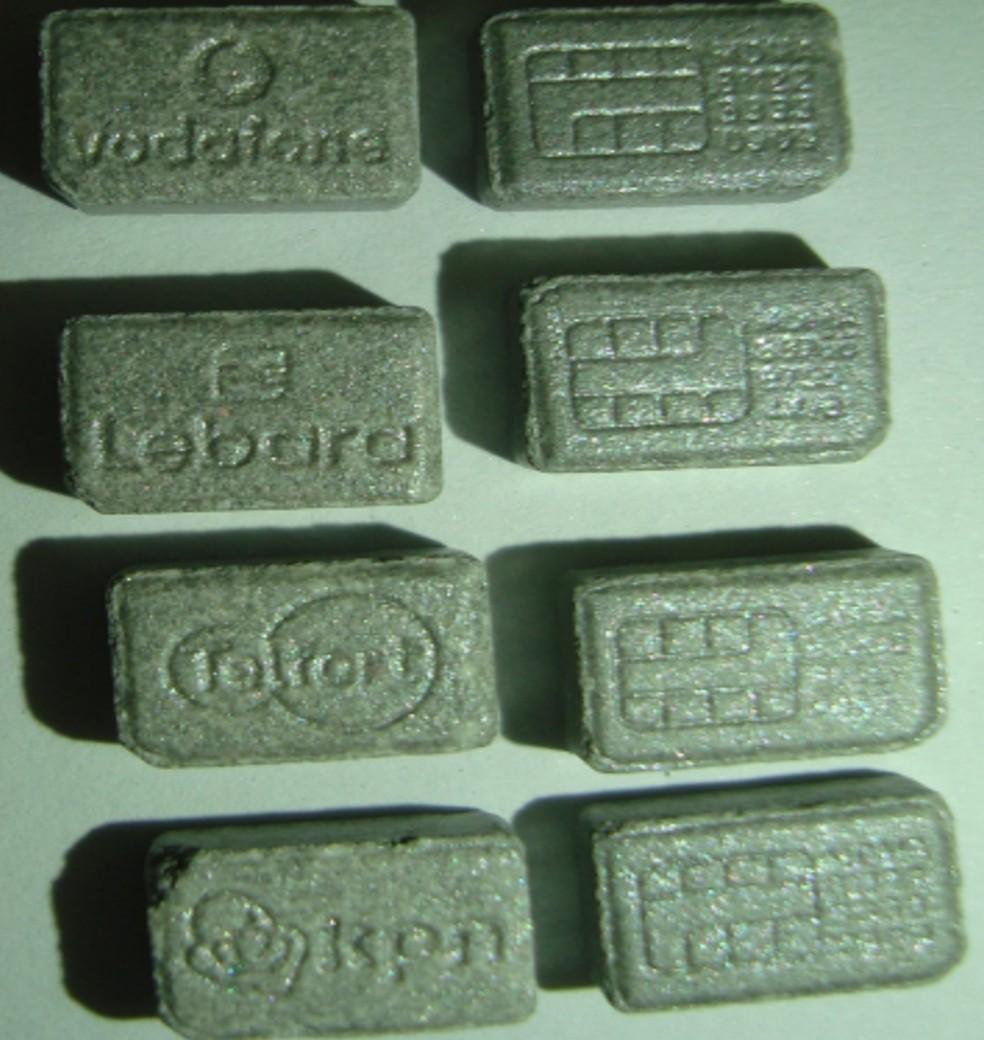 Droga apreendida pela PF tinha formato de chips — Foto: Polícia Federal/Divulgação