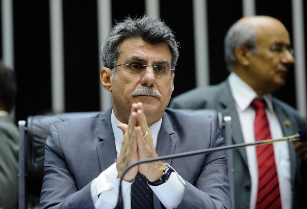 O ex-senador Romero Jucá (MDB-RR) se tornou réu por corrupção e lavagem de dinheiro — Foto: Pedro França/Agência Senado