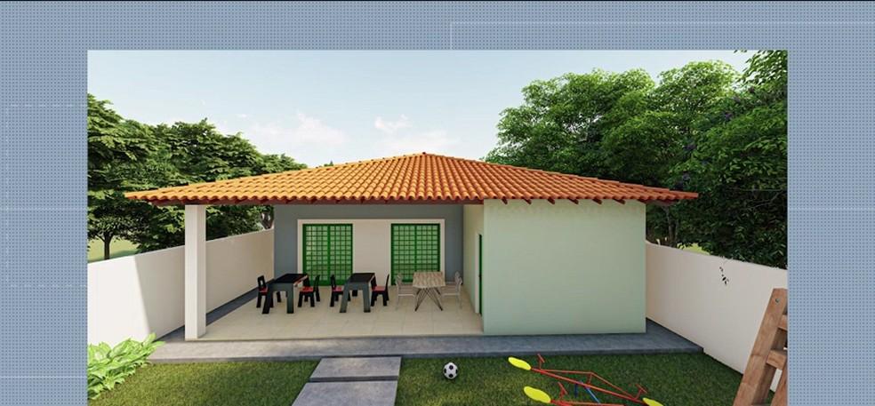 Érika vai ganhar uma casa com espaço para continuar as aulas da escolinha. — Foto: Reprodução/TV Mirante