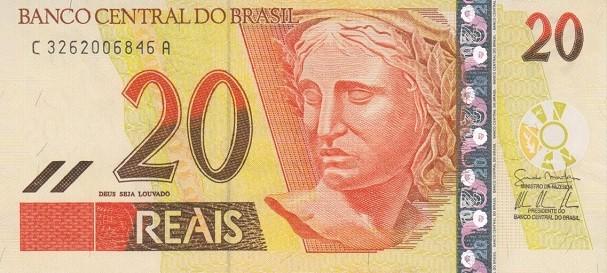 Ano em que começou a circular a nota de R$ 20 (Foto: Reprodução)