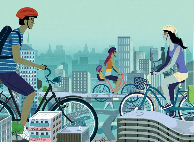 As bicicletas invadiram a cidade!  (Foto: Nik Neves)