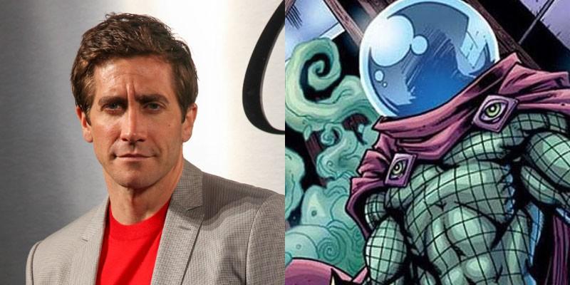 Jake Gyllenhaal e o vilão Mysterio (Foto: Getty e divulgação)