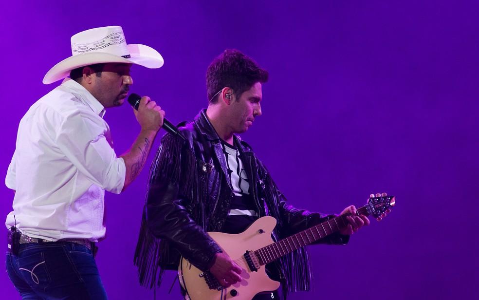 Dupla Edson e Hudson se apresenta em Indaiatuba (SP) neste domingo (8). — Foto: Érico Andrade/G1