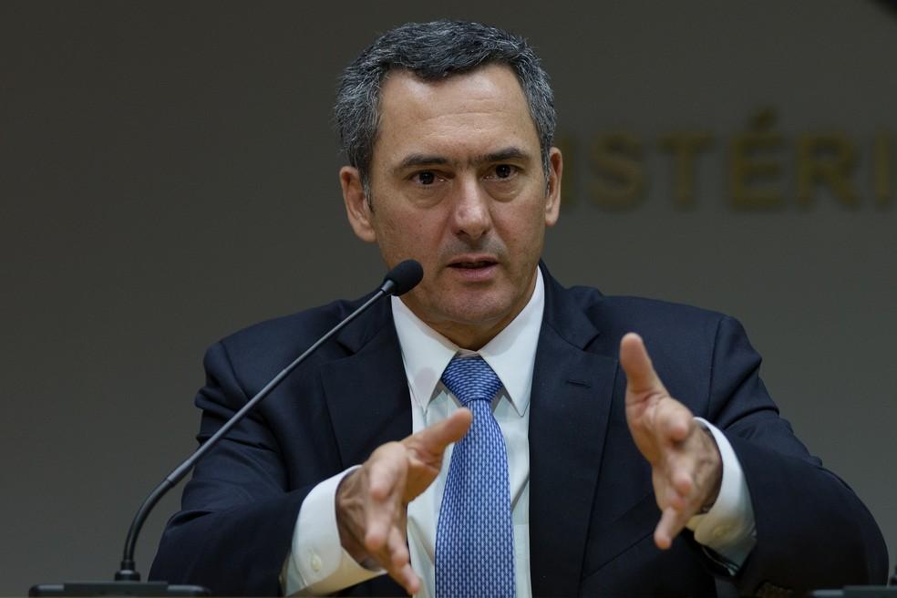O ministro da Fazenda, Eduardo Guardia — Foto: Gustavo Raniere/Ministério da Fazenda