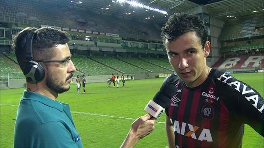 """Pablo lamenta derrota do Atlético-PR para o América-MG: """"Não podemos perder dessa forma"""""""
