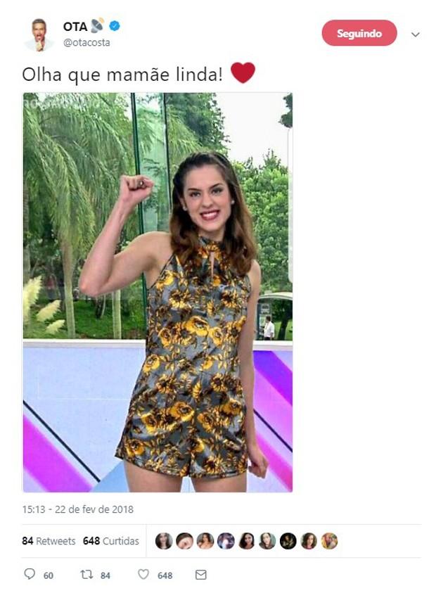 Otaviano Costa faz post enigmático sobre suposta gravidez de Sophia Abrahão (Foto: Reprodução/Twitter)