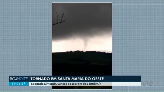 Simepar confirma tornado em Santa Maria do Oeste